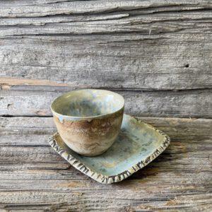 Espressotasse und Unterteller mondwasser